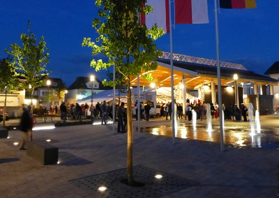 Bürstadt – Illumination des neu gestalteten Marktplatzes