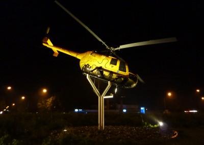 Anstrahlung Hubschrauber, Verkehrskreisel Südspange Donauwörth