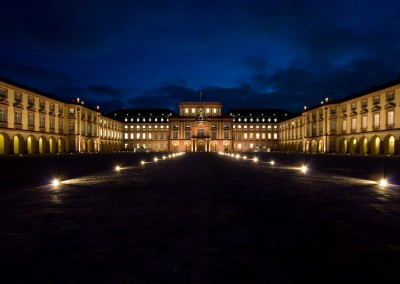 Lichtplanung Schloss Mannheim, Ehrenhof