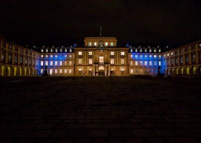 Blaue Stunde, Schloss Mannheim