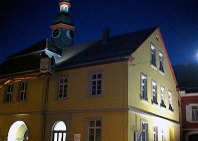 """""""Seckenheimer Planken"""" mit historischem Rathaus, Mannheim"""